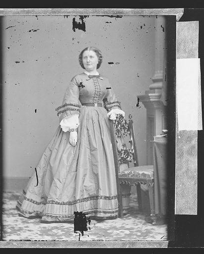 Harriet Lane. Sitter: Harriet Lane Johnston, 9 May 1830 – 3 Jul 1903. Date: 1860s. Record ID: npg_NPG.81.M3211.2.