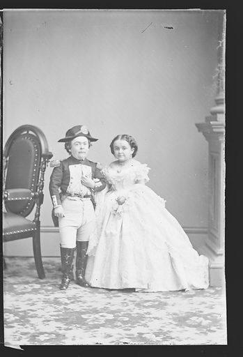 Charles and Lavinia Stratton. Sitters: Charles Sherwood Stratton, 4 Jan 1838 – 15 Jul 1883; Lavinia Warren Stratton, 31 Oct 1841 – 25 Nov 1919. Date: 1860s. Record ID: npg_NPG.81.M3227.1.