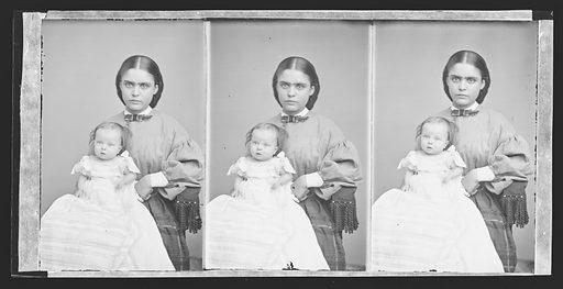 Baby Stratton and Nurse. Date: 1860s. Record ID: npg_NPG.81.M3234.3.