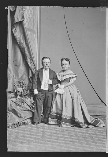Charles and Lavinia Stratton. Sitters: Charles Sherwood Stratton, 4 Jan 1838 – 15 Jul 1883; Lavinia Warren Stratton, 31 Oct 1841 – 25 Nov 1919. Date: 1860s. Record ID: npg_NPG.81.M3237.2.