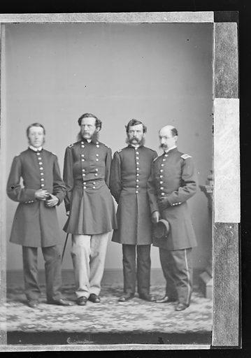 Samuel Wylie Crawford and Staff. Sitter: Samuel Wylie Crawford, 1829 – 1892. Date: 1860s. Record ID: npg_NPG.81.M3340.2.