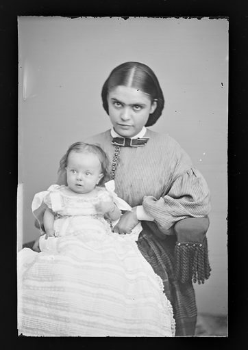 Baby Stratton and Nurse. Date: 1860s. Record ID: npg_NPG.81.M3366.3.