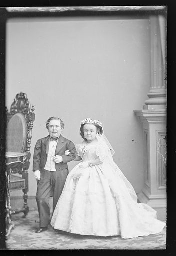 Charles and Lavinia Stratton. Sitters: Charles Sherwood Stratton, 4 Jan 1838 – 15 Jul 1883; Lavinia Warren Stratton, 31 Oct 1841 – 25 Nov 1919. Date: 1860s. Record ID: npg_NPG.81.M3443.3.