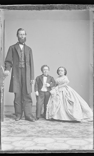 Charles and Lavinia Stratton. Sitters: Charles Sherwood Stratton, 4 Jan 1838 – 15 Jul 1883; Lavinia Warren Stratton, 31 Oct 1841 – 25 Nov 1919. Date: 1860s. Record ID: npg_NPG.81.M3445.2.