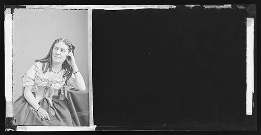 Clara Jennings. Sitter: Clara Jennings. Date: 1860s. Record ID: npg_NPG.81.M3557.