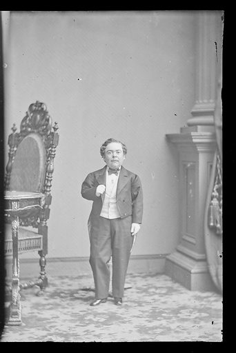 Charles Sherwood Stratton. Sitter: Charles Sherwood Stratton, 4 Jan 1838 – 15 Jul 1883. Date: 1860s. Record ID: npg_NPG.81.M3748.3.
