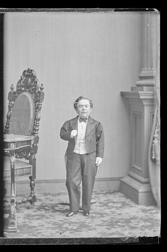 Charles Sherwood Stratton. Sitter: Charles Sherwood Stratton, 4 Jan 1838 – 15 Jul 1883. Date: 1860s. Record ID: npg_NPG.81.M3760.3.