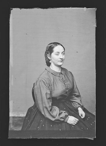Kate Wilson Denin. Sitter: Kate Denin, 1837 – 1907. Date: 1860s. Record ID: npg_NPG.81.M3908.