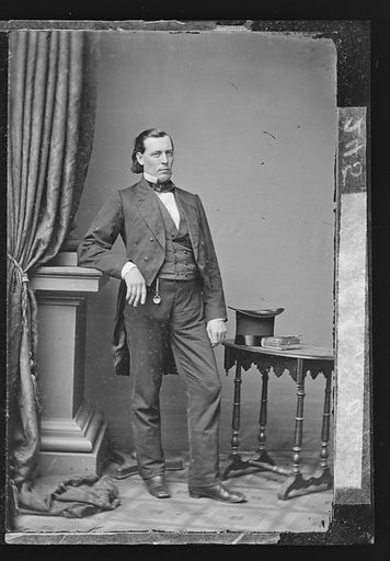 Ward Hill Lamon. Sitter: Ward Hill Lamon, 1828 – 1893. Date: 1860s. Record ID: npg_NPG.81.M4005.1.
