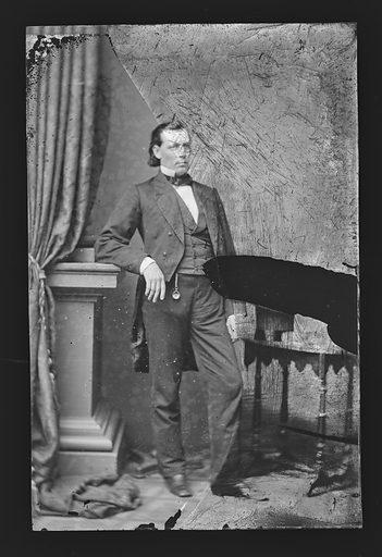 Ward Hill Lamon. Sitter: Ward Hill Lamon, 1828 – 1893. Date: 1860s. Record ID: npg_NPG.81.M4005.2.