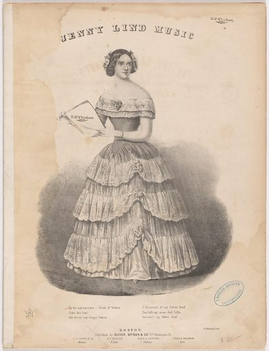 Jenny Lind. Sitter: Jenny Lind, 6 Oct 1821 – 2 Nov 1887. Date: 1840s. Record ID: npg_NPG.98.18.