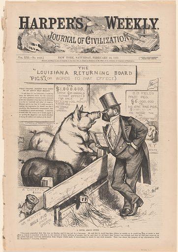 A Jewel Among Swine. Date: 1870s. Record ID: npg_AD_NPG.79.11.