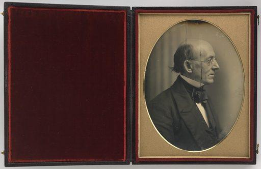 William Lloyd Garrison. Sitter: William Lloyd Garrison, 10 Dec 1805 – 24 May 1879. Date: 1840s. Record ID: npg_NPG.99.47.
