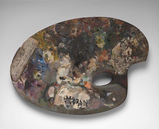 Thomas Moran's palette. Date: 1800s. Record ID: npg_AD_NPG.74.20.