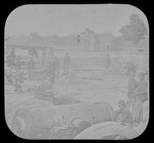 Fair Oaks Station Near Farm Houses. Date: 1860s. Record ID: npg_AD_NPG.95.2.16.