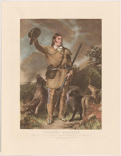 Davy Crockett. Sitter: David Crockett, 17 Aug 1786 – Mar 1836. Date: 1830s. Record ID: npg_S_NPG.99.171.