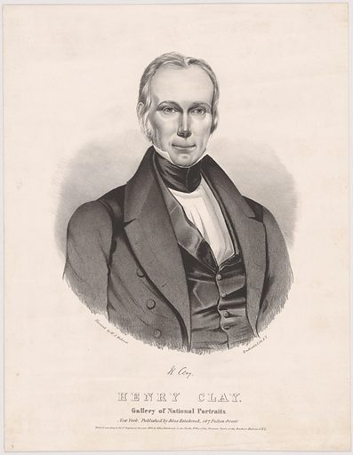 Henry Clay. Sitter: Henry Clay, 12 Apr 1777 – 29 Jun 1852. Date: 1840s. Record ID: npg_NPG.99.134.