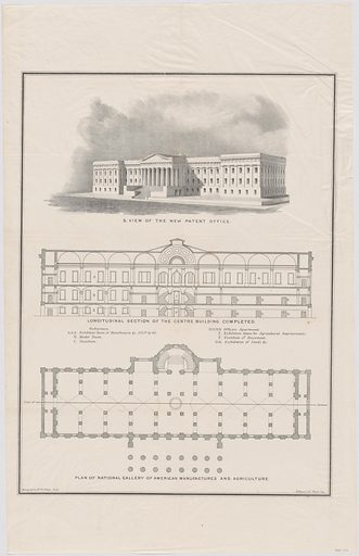 Patent Office plan. Date: 1830s. Record ID: npg_NPG.POB136.