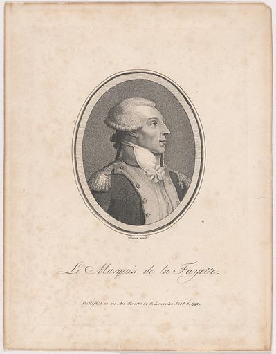 Marquis de Lafayette. Sitter: Marquis de Lafayette, 6 Sep 1757 – 20 May 1834. Date: 1790s. Record ID: npg_NPG.2000.97.
