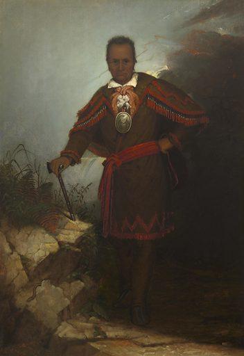 Red Jacket (Sagoyewatha). Sitter: Red Jacket, c. 1758 – 20 Jan 1830. Date: 1860s. Record ID: npg_NPG.2002.69.