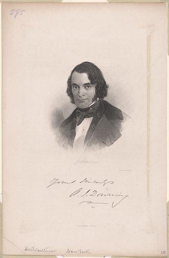 Andrew Jackson Downing. Sitter: Andrew Jackson Downing, 31 Oct 1815 – 28 Jul 1852. Date: 1850s. Record ID: npg_NPG.2004.23.