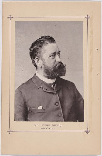 James Landy. Sitter: James Landy, 12 Aug 1838 – 18 Nov 1897. Date: 1880s. Record ID: npg_S_NPG.2007.85.