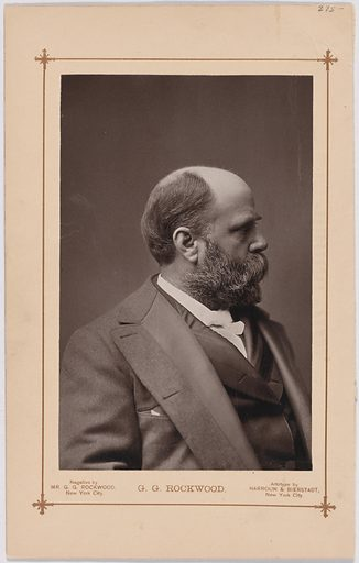 George Rockwood. Sitter: George N. Rockwood, 1833 – 1911. Date: 1880s. Record ID: npg_S_NPG.2007.100.