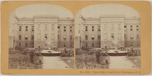Patent Office Building Courtyard, Washington, D. C. Date: 1880s. Record ID: npg_NPG.POB170.