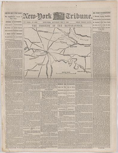 New York Tribune, May 2, 1863. Date: 1860s. Record ID: npg_AD_NPG.2013.6.