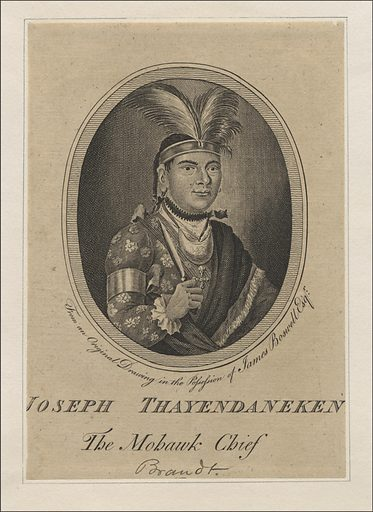 Joseph Thayendaneken: The Mohawk Chief. Sitter: Thayendanegea, Mar 1743 – 24 Nov 1807. Date: 1770s. Record ID: npg_NPG.2017.22.