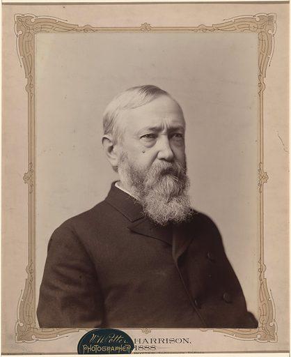 Benjamin Harrison. Sitter: Benjamin Harrison, 20 Aug 1833 – 13 Mar 1901. Date: 1880s. Record ID: npg_NPG.78.157.