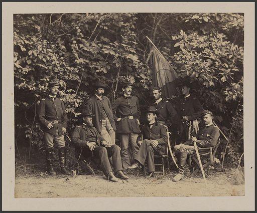 General Merritt and his Staff. Sitter: Wesley Merritt, 16 Jun 1834 – 3 Dec 1910. Date: 1880s. Record ID: npg_NPG.81.29.