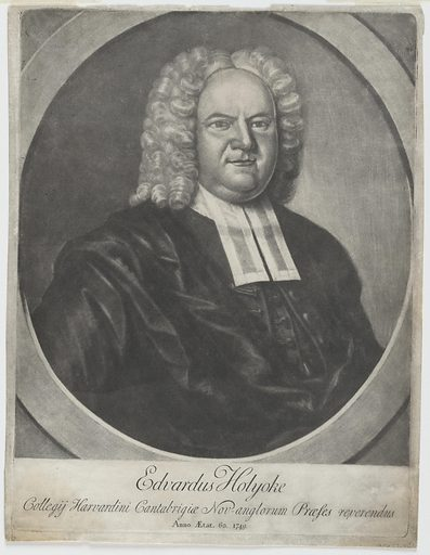 Edward Holyoke. Sitter: Edward Holyoke, 26 Jun 1689 – 1 Jun 1769. Date: 1740s. Record ID: npg_NPG.77.40.
