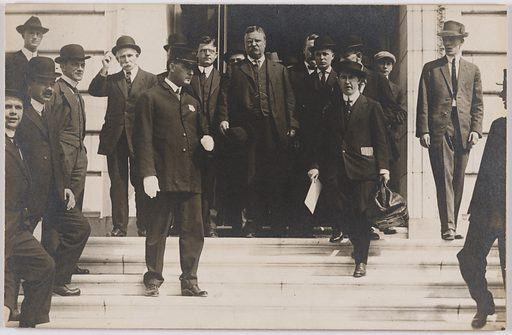 Theodore Roosevelt and Frank J. Hogan. Sitters: Theodore Roosevelt, 27 Oct 1858 – 6 Jan 1919; Frank J. Hogan, 1877 – 1944. Date: 1910s. Record ID: npg_S_NPG.84.296.