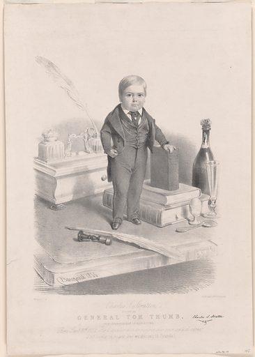 General Tom Thumb. Sitter: Charles Sherwood Stratton, 4 Jan 1838 – 15 Jul 1883. Date: 1840s. Record ID: npg_NPG.78.79.