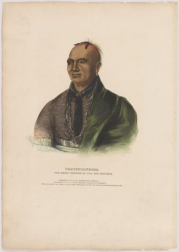 Thayendanegea. Sitter: Thayendanegea, Mar 1743 – 24 Nov 1807. Date: 1830s. Record ID: npg_NPG.94.109.
