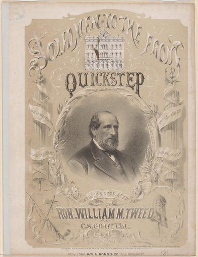 William Marcy Tweed. Sitter: William Marcy Tweed, 3 Apr 1823 – 12 Apr 1878. Date: 1870s. Record ID: npg_NPG.80.36.