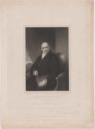 Benjamin West. Sitter: Benjamin West, 10 Oct 1738 – 11 Mar 1820. Date: 1810s. Record ID: npg_NPG.96.136.