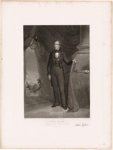 John Tyler. Sitter: John Tyler, 29 Mar 1790 – 18 Jan 1862. Date: 1840s. Record ID: npg_NPG.83.165.