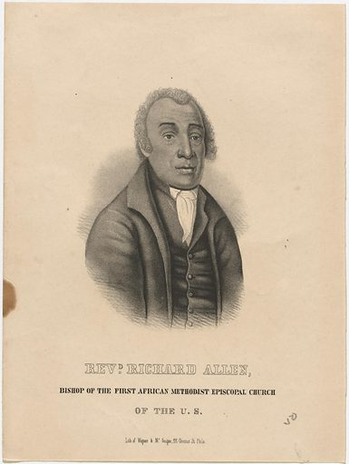Bishop Richard Allen. Sitter: Bishop Richard Allen, 14 Feb 1760 – 26 Mar 1831. Date: 1840s. Record ID: npg_NPG.86.61.