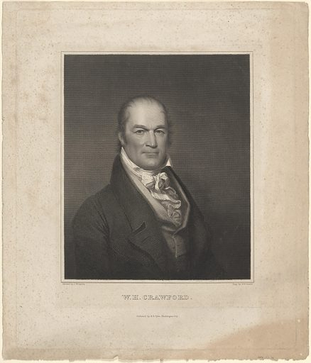 William Harris Crawford. Sitter: William Harris Crawford, 24 Feb 1772 – 15 Sep 1834. Date: 1820s. Record ID: npg_NPG.77.75.