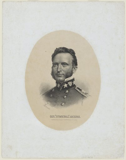 Stonewall Jackson. Sitter: Thomas Jonathan Jackson, 21 Jan 1824 – 10 May 1863. Date: 1880s. Record ID: npg_NPG.76.45.