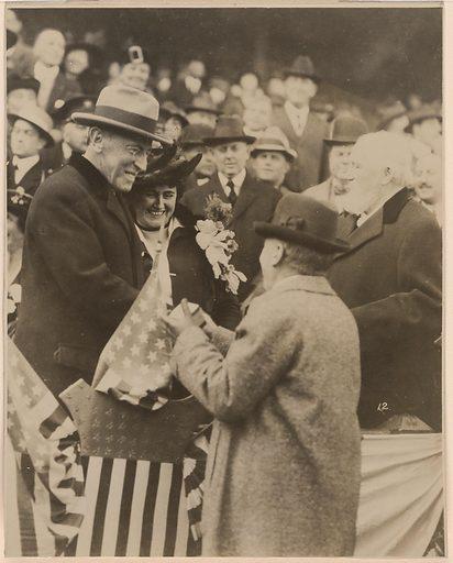 Woodrow and Edith Wilson. Sitters: Woodrow Wilson, 28 Dec 1856 – 3 Feb 1924; Edith Bolling Galt Wilson, 15 Oct 1872 – 28 Dec 1961. Date: 1920s. Record ID: npg_S_NPG.76.39.