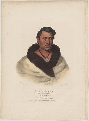 Ong-pa-ton-ga. Sitter: Om-pah-tón-ga, c. 1767 – 1846. Date: 1830s. Record ID: npg_NPG.94.104.