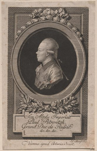 Paul I. Sitter: Paul I, 1754 – 1801. Date: 1820s. Record ID: npg_S_NPG.72.11.