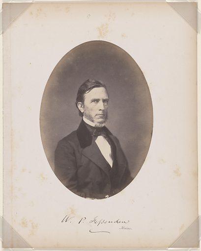 William Pitt Fessenden. Sitter: William Pitt Fessenden, 16 Oct 1806 – 9 Sep 1869. Date: 1850s. Record ID: npg_NPG.87.42.14.