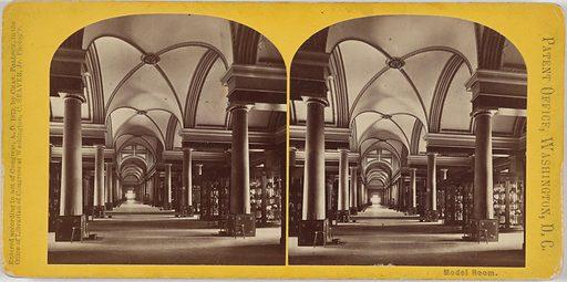 Patent Office – Model Room. Date: 1870s. Record ID: npg_NPG.POB49.