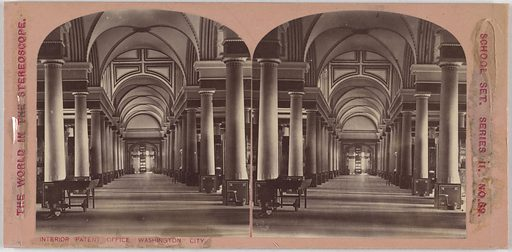 Interior Patent Office, Washington City. Date: 1860s. Record ID: npg_NPG.POB99.