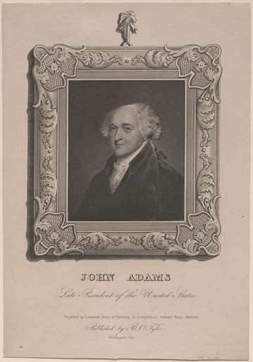 John Adams. Sitter: John Adams, 30 Oct 1735 – 4 Jul 1826. Date: 1820s. Record ID: npg_NPG.79.236.