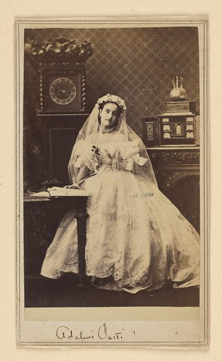 Adelina Patti. Sitter: Adelina Patti, 19 Feb 1843 – 27 Sep 1919. Date: 1850s. Record ID: npg_NPG.80.217.